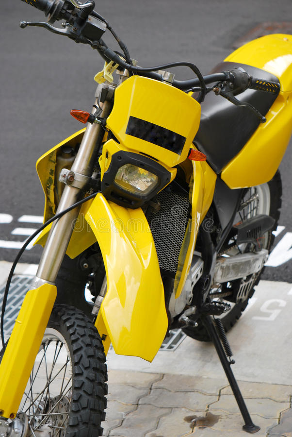 Download Yellow Scrambler stock image. Image of dirt, racer, bike - 24260597
