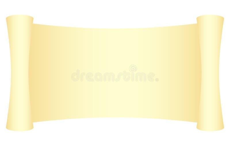 Yellow scroll vector illustration