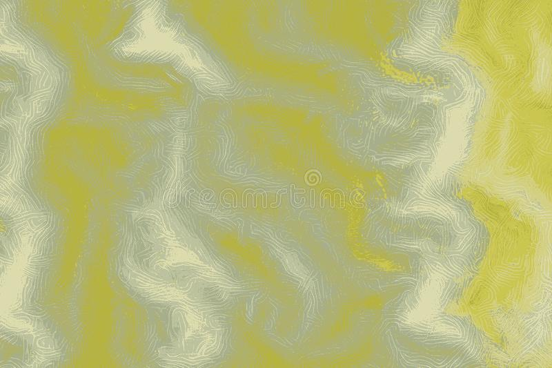 Yellow Sea översikt av undervattens- topografi med lättnadsöversikten vektor illustrationer