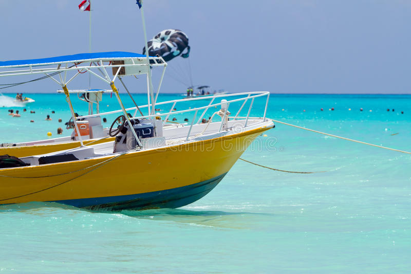 Download Yellow sea boat stock image. Image of horizon, mexican - 20572403