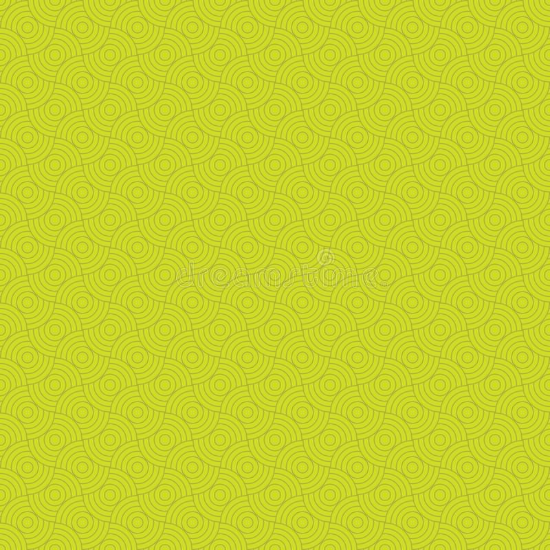 Yellow seamless pattern. Modern stylish texture. Repeating geometric tiles. royalty free illustration