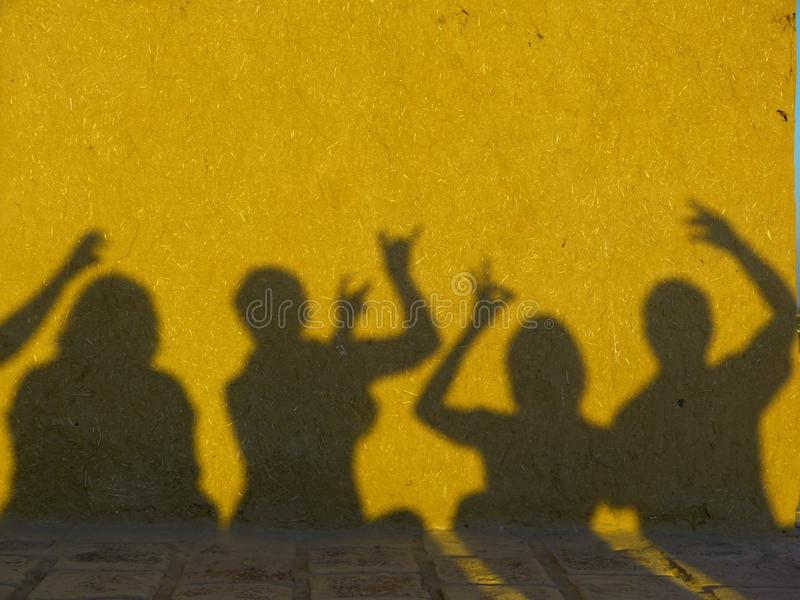 Yellow, Shadow, Art, Wall stock image
