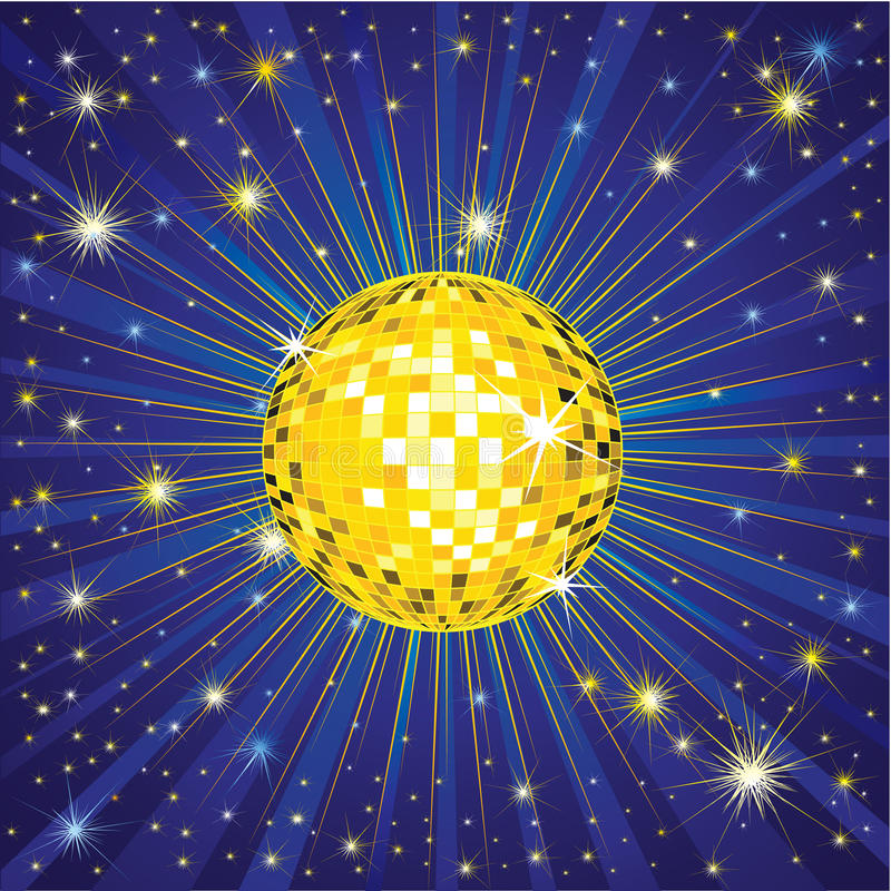Download Yellow Shining Disco-ball Royalty Free Stock Photos - Image: 11889728