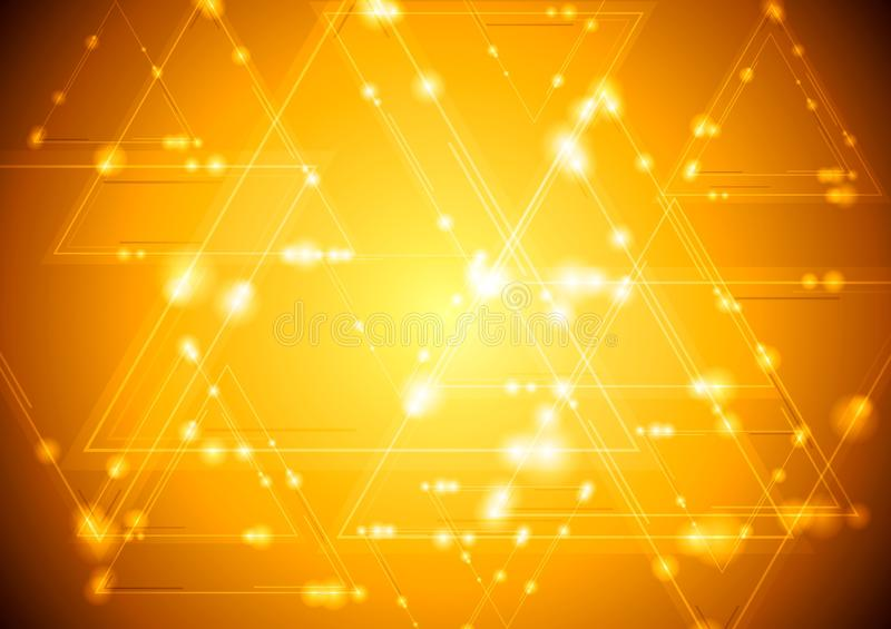 Yellow shiny tech background vector illustration