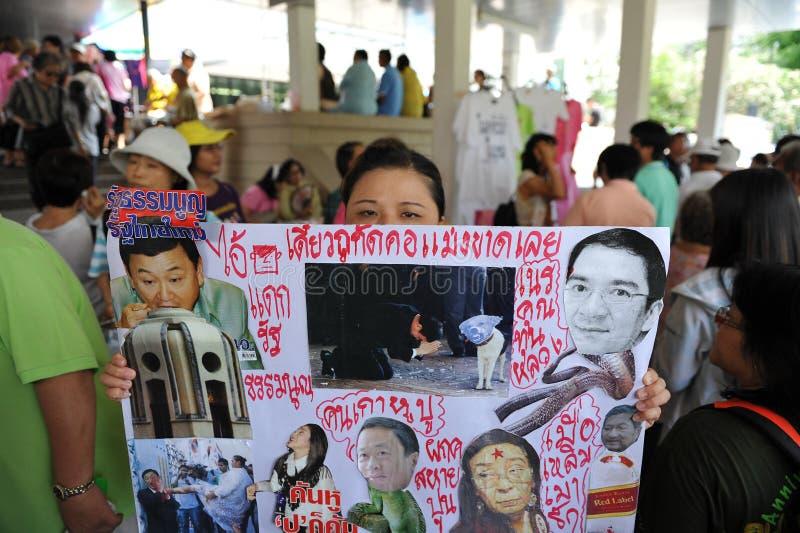 Yellow-Shirt Protest In Bangkok Editorial Photography