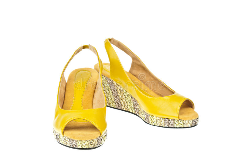 Download Yellow shoes, Platform stock image. Image of bunch, sale - 20820079