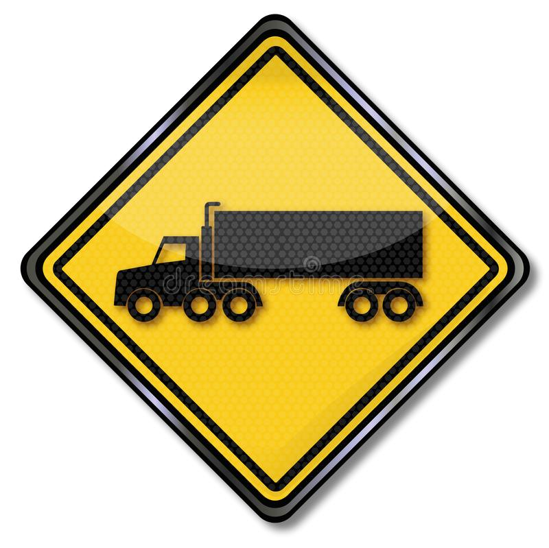 Truck and semi-trailer royalty free illustration