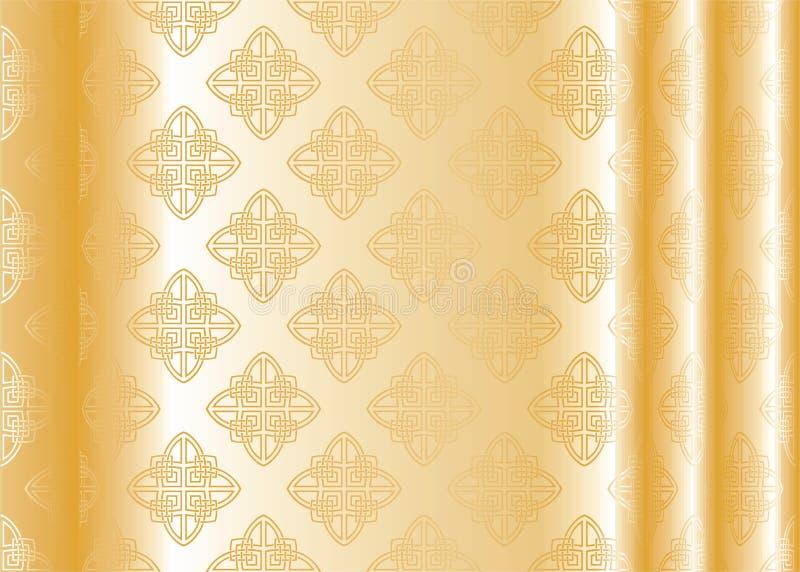 Yellow silk royalty free illustration