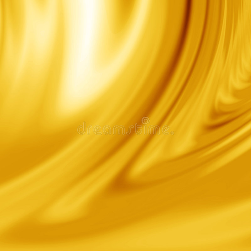 Yellow silk. With some smooth lines in it stock illustration