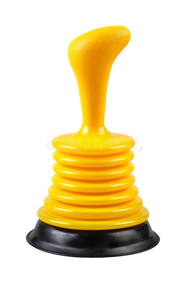 Yellow sink plunger stock photo