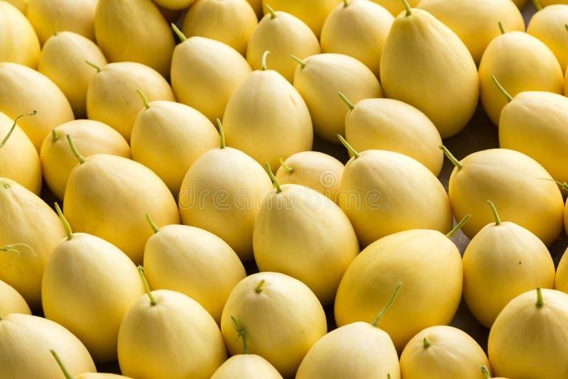 Yellow skin melon stock photos