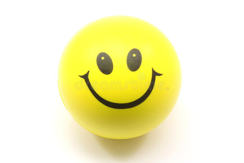 Download Yellow Smiley Face Stress Ball Stock Image - Image of round, happy: 10768855
