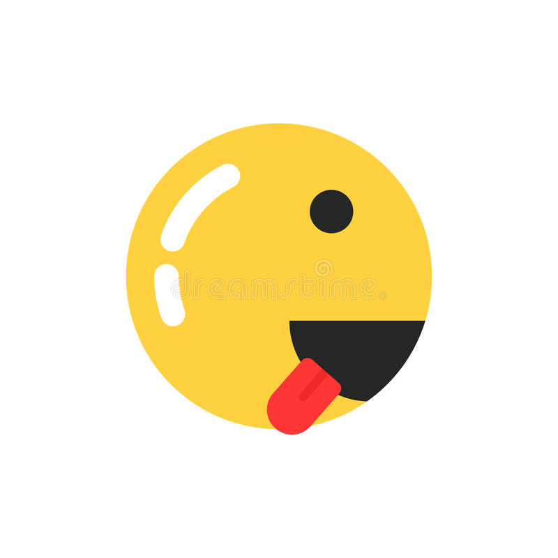 Yellow smiley icon like runner. Concept of emoji, grin, workout competition, training, foodie, enjoy food, crazy, mad. flat style trend modern emoji logo vector illustration