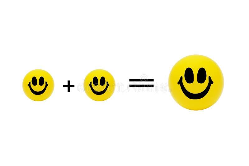 Yellow smiling balls - three