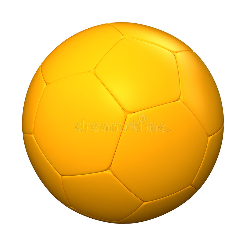 Download Yellow Soccer Ball Royalty Free Stock Photo - Image: 4558285