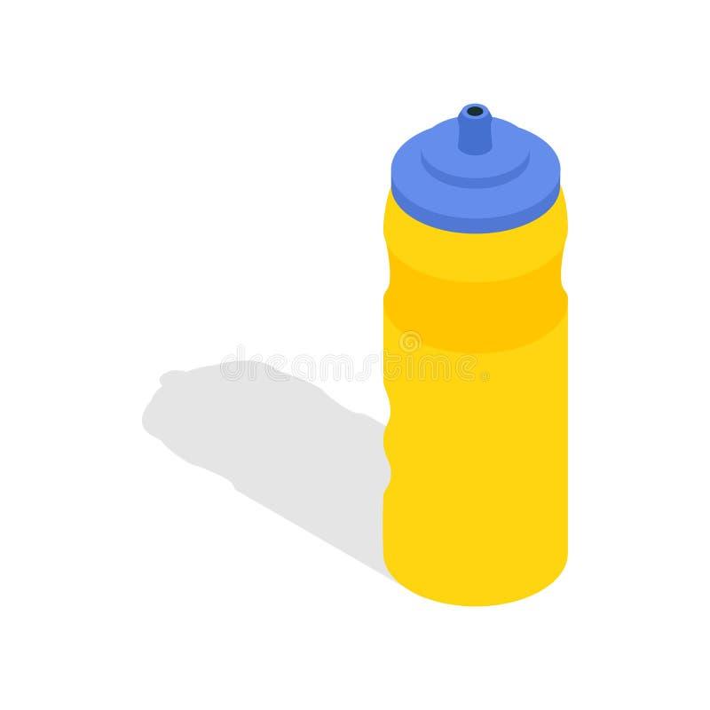 Yellow sport plastic water bottle icon vector illustration