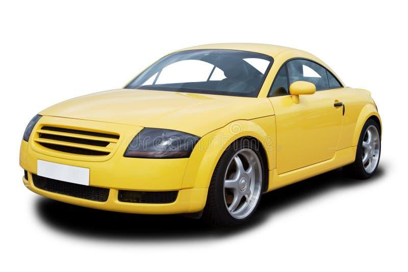 Yellow Sports Car royalty free stock image