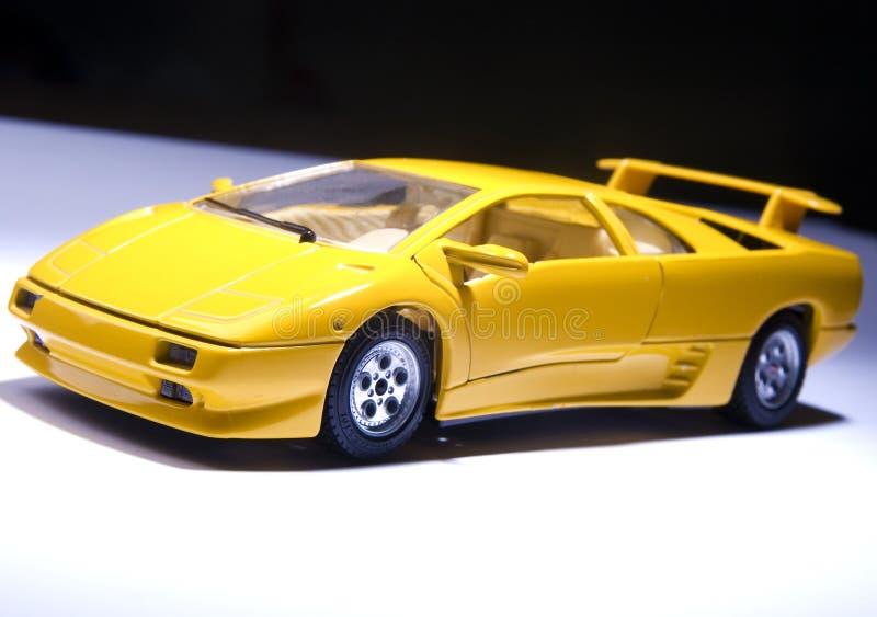 Yellow sports lamborghini stock photo