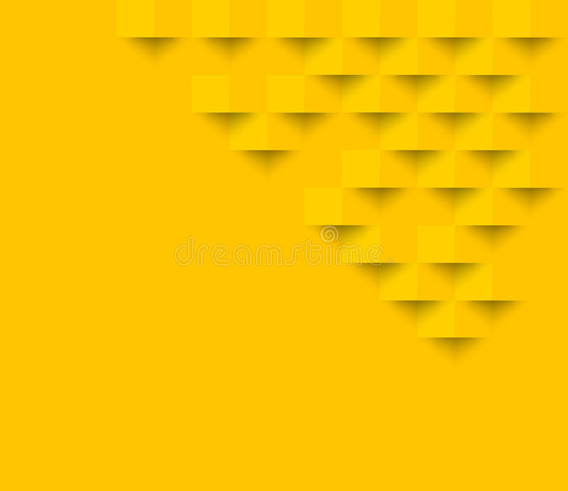 Yellow square geometric texture background Abstract square geom. Etric texture.banner background web design for infographics business finance royalty free illustration
