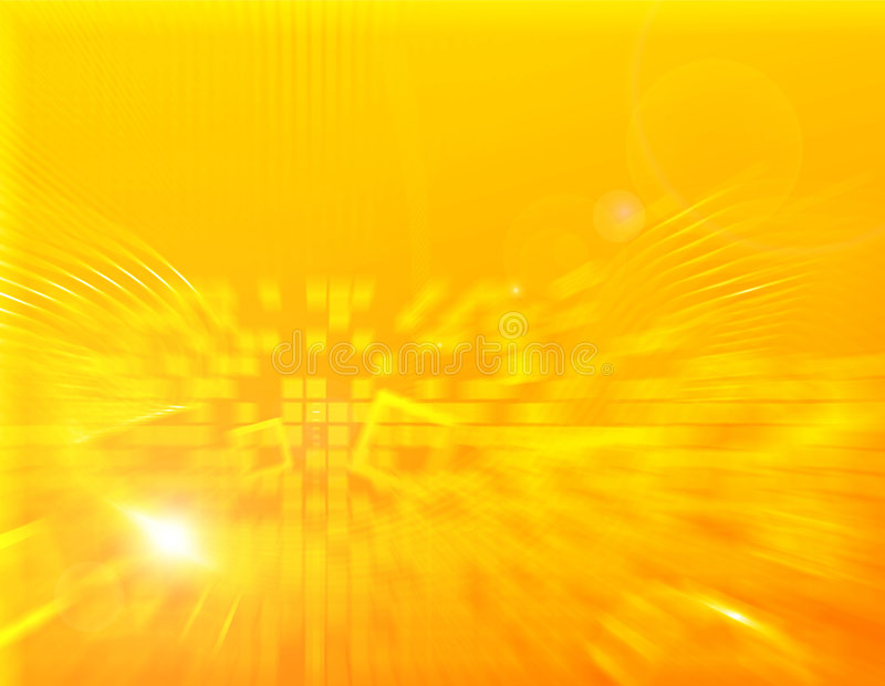 Yellow Squares And Blurs Background Stock Photo