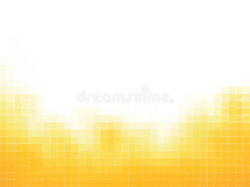 Yellow squares mosaic background vector illustration