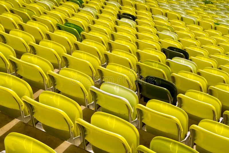 Download Yellow Stadium Seats Royalty Free Stock Image - Image: 23697016