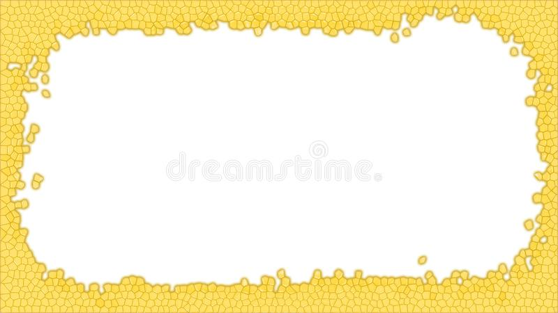 Yellow Stained glass frame illustration royalty free stock photos