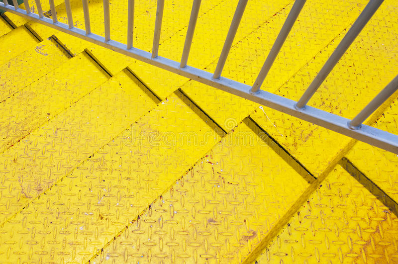 Yellow stair royalty free stock photography