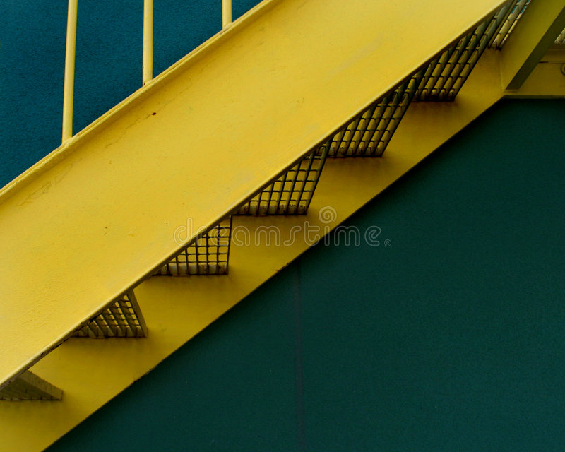 Download Yellow Stairway stock photo. Image of parallel, ascend, imitation - 2784