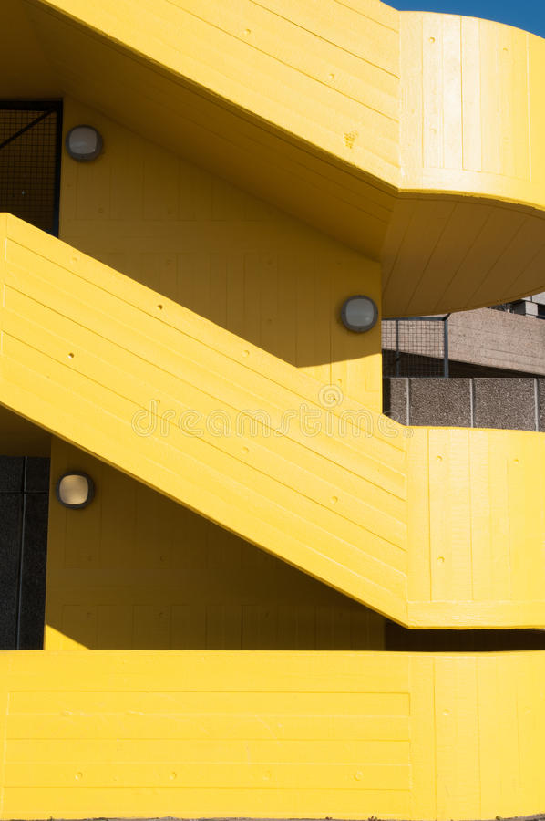 Yellow stairway royalty free stock images