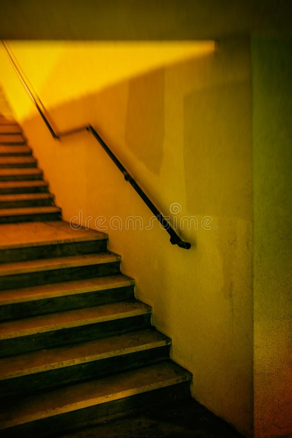 Yellow Stairway royalty free stock photo