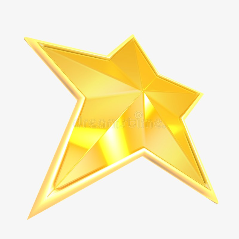 Yellow star. 3d the image in the long term stock illustration