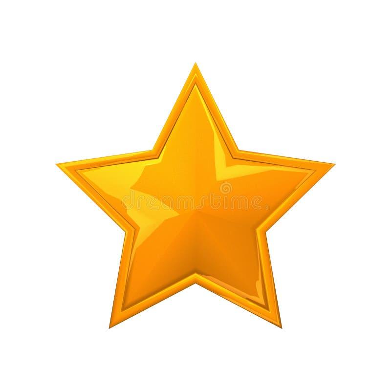 Yellow Star. Russian style Yellow glass star stock illustration