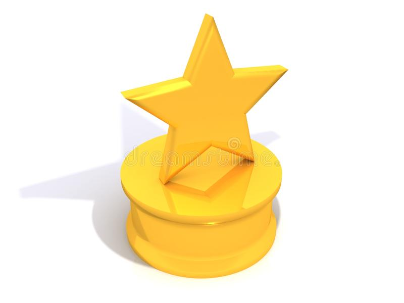 Yellow star award. A yellow star award isolated on white royalty free illustration