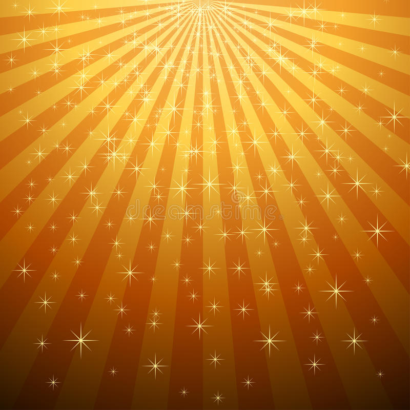 Yellow star burst with star fall. Abstract yellow star burst with star fall vector background vector illustration