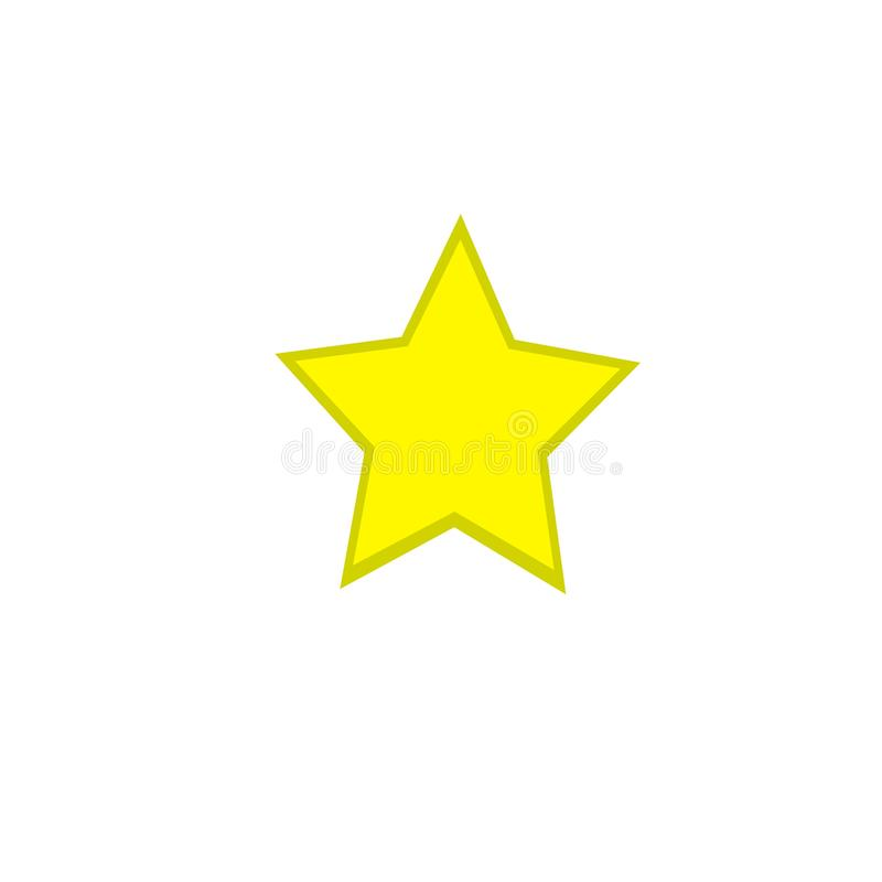 Yellow star design good for kids or funny design. Yellow star with darker shapes you can edit for complementing other designs vector illustration