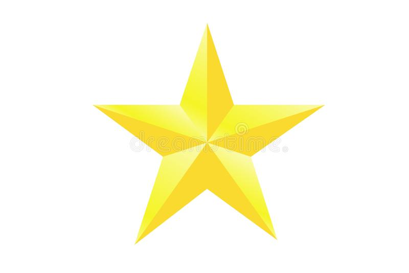 Yellow star icon on white background. Illustration design royalty free stock images