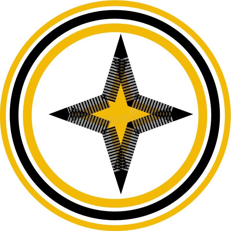 Yellow star logo. Illustration for your business brand vector illustration