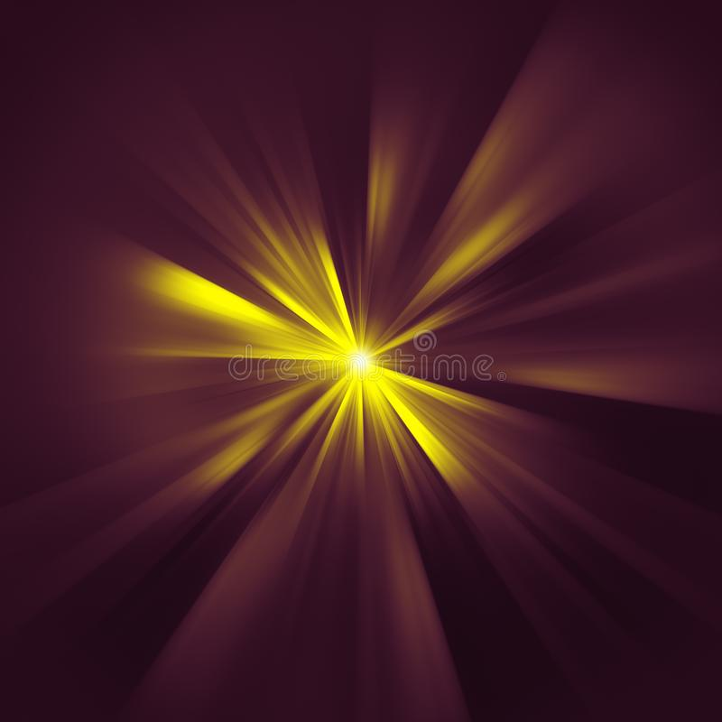 Yellow star rays texture. Illustration of a yellow star rays texture stock illustration