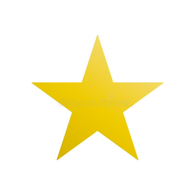 Yellow star on white background vector eps10. Gold star icon. Yellow star on white background vector . Gold star icon vector illustration