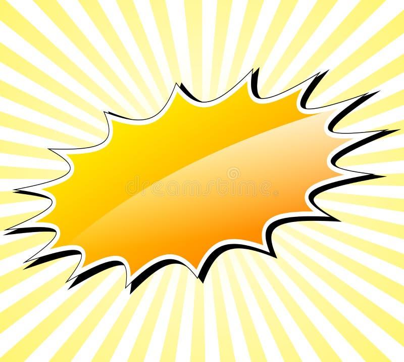 Free Yellow Starburst Background Stock Image - 107507561