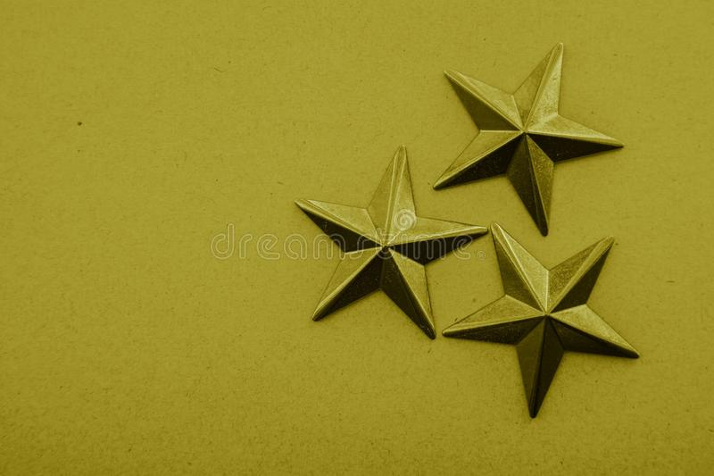 Yellow stars on the yellow background. Lines and shapes royalty free stock photos