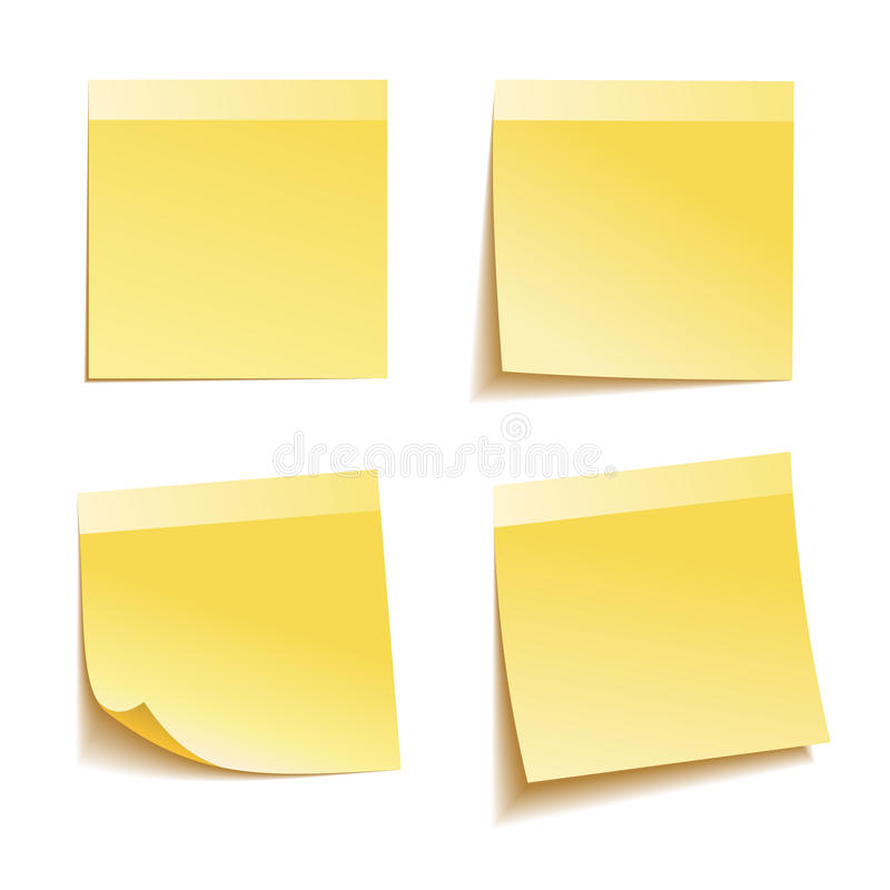 Download Yellow stick note stock vector. Illustration of clip - 34651811