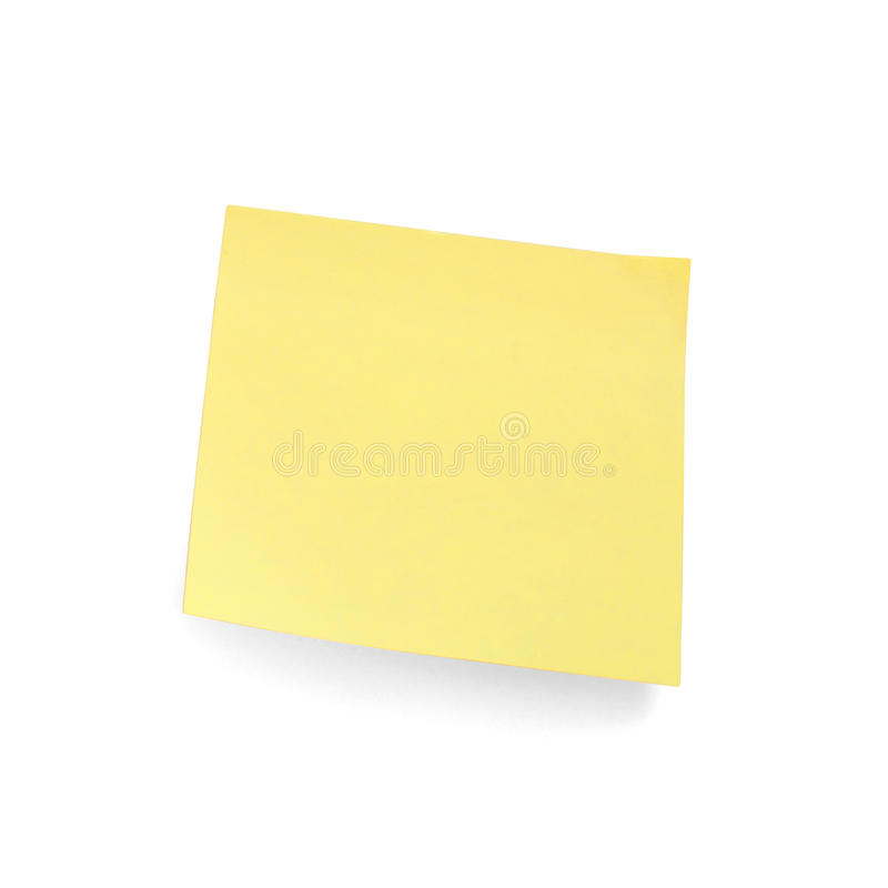 Yellow Sticky Note Royalty Free Stock Photos