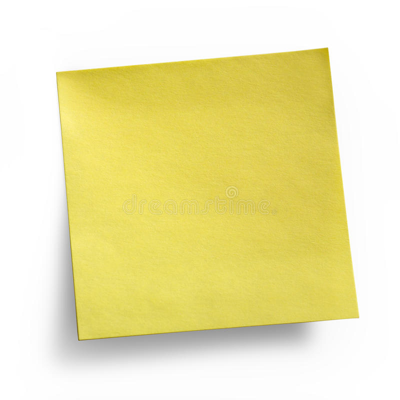 Download Yellow Sticky Note Royalty Free Stock Images - Image: 16498099
