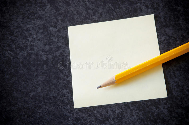 Yellow sticky note stock photos