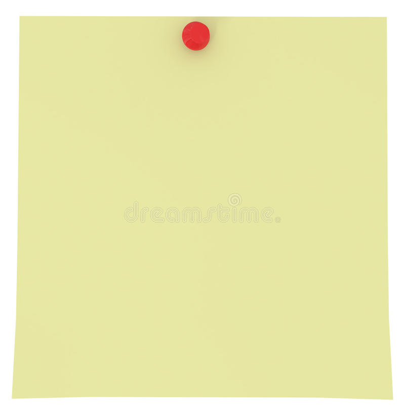Yellow Sticky Note isolated on white vector illustration