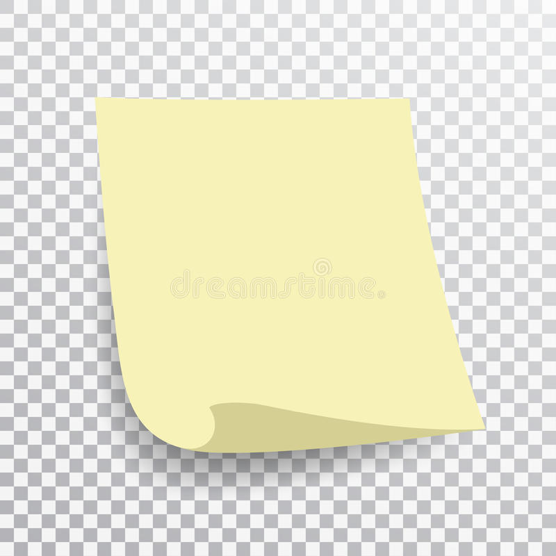 yellow sticky note on transparent background template for your projects vector illustration. Black Bedroom Furniture Sets. Home Design Ideas