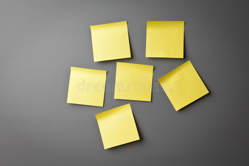Download Yellow Sticky Notes On Wall Stock Image - Image: 25326443