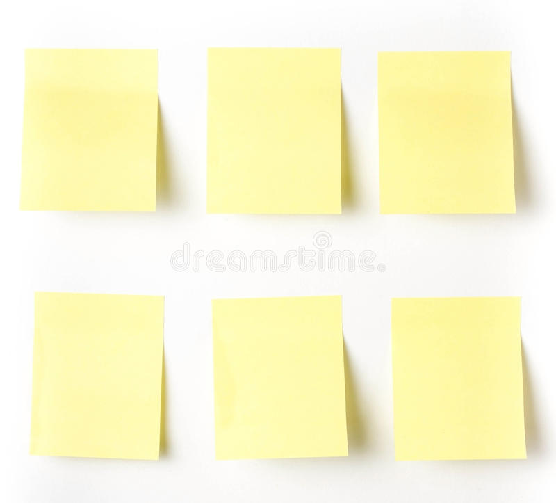Download Yellow Sticky Reminder Note Waiting For Your Message. Stock Image - Image: 32597661